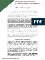 Guia Bibliográfico Para Exegese Do Novo...to - Prof. Isaías Lobão Pereira Júnior