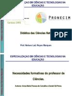 Didática Das Ciências Naturais_Parte 3_Necessidades Formativas