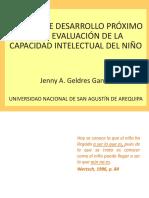 La Zona de Desarrollo Próximo en La Evaluación de La Capacidad Intelectual Del Niño