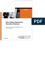 Cisco Next-generation Security Solutions