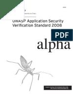 Owasp Asvs Standard 2008