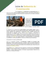 Definición de La Industria de La Construccion