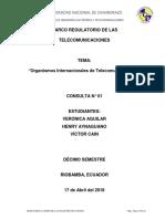 Organismos Internacionales de Telecomunicaciones