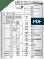 Renault Megane 1.6 16V K4M Hi-Flex Injeção eletrônica Sagem S3000 Diagrama elétrico