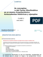 CLASE 2A Arq Bioclimática 2018-1