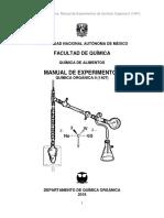 Manual de prácticas de Química Orgánica II (1407) 2018