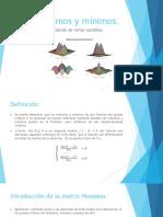 Máximos y Mínimos en Calculo de Varias Variables(1)