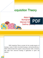 Skill Acquisition Theory