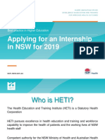 WORKFORCE TRAINING - Joint Ventures - Applying for an Internship in NSW for 2019 Presentation 3 April 2018 (1)