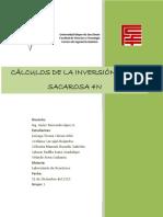 Informe Prática Nº 1 Cálculos de La Inversión de La Sacarosa 4N