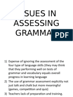 Issues in Assessing Grammar