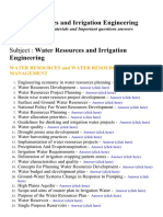 Water Resources and Irrigation Engineering - Lecture Notes, Study Materials and Important questions answers