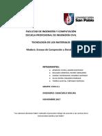 Informe de Maderas