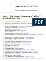 The Massage Connection Anatomy and Physiology - Lecture Notes, Study Materials and Important questions answers