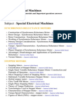 Special Electrical Machines - Lecture Notes, Study Materials and Important questions answers