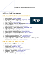 Soil Mechanics - Lecture Notes, Study Materials and Important questions answers
