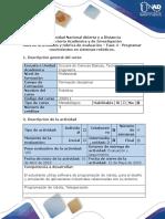 Guía de Actividades y Rúbrica de Evaluación Fase 4 Programar Movimientos en Sistemas Robóticos