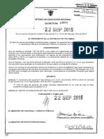 Decreto 1889 Del 22 de Septiembre de 2015