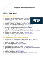 Psychiatry - Lecture Notes, Study Materials and Important questions answers