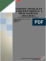 Solicitud Mensual de Petitorios Mineros Presentados Anivel Nacional en El Año 2014 y 2015
