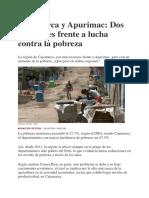 pobresa en Cajamarca y Apurimac