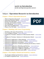Operations Research an Introduction - Lecture Notes, Study Materials and Important questions answers