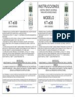Instrucciones Kt e08 Doble