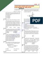 NEET Answer Key 2018 Physics