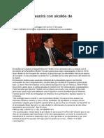 Vizcarra Se Reunirá Con Alcalde de Cajamarca