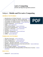 Mobile and Pervasive Computing - Lecture Notes, Study Materials and Important questions answers