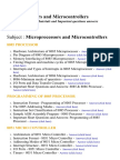 Microprocessors and Microcontrollers - Lecture Notes, Study Materials and Important questions answers