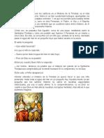 El Principal Misterio Para Los Católicos Es El Misterio de La Trinidad