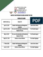 LL.M. Program Schedule