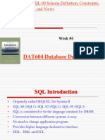 Oracle - Schema Definition, Constraints, Queries, and Views