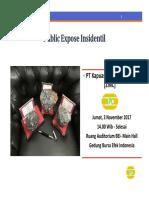 ZINC Public Expose 2017