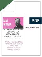 DE LA ADMINISTRACIÓN GENERAL A LA ORGANIZACIÓN BUROCRÁTICA IDEAL