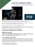 Una guía esencial sobre Inteligencia Artificial