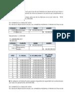 Ejercicios de los métodos de depreciación por línea recta, suma de dígitos y amortización