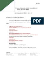 Orientações Para a Elaboração de Trabalho de Conclusão de Curso II 2018-1