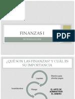 Finanzas i (Clase 1 y 2)
