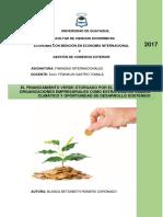 El Financiamiento Verde Otorgado Por El Banco Mundial a Organizaciones Empresariales Como Estrategia de Cambio Climático y Oportunidad de Desarrollo Sostenido