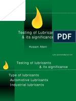 Typical Tests Carried Out on Lubricants