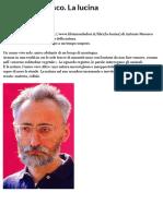 Antonio Moresco. La lucina | Doppiozero