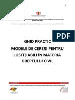 Ghid Justitiabili -Modele de Cereri in Materia Dreptului Civil