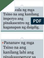 Quiz-mga Kaisipan Sa Pagbuo Ng Emperyo
