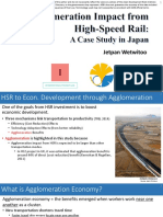Agglomeration Impact from high-Speed Rail