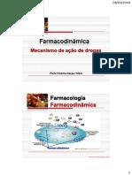 Farmacodinâmica II_Mecanismo de ação de drogas
