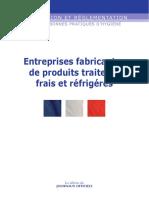 Application HACCP Des Entreprises Fabricantes de Produits Traiteurs Frais Et Réfrigérés
