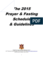 2015 Prayer and Fasting Guide and Schedule