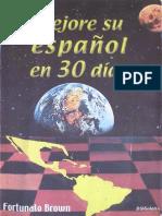 Mejore su español en 30 dÃ-as - Fortunato Brown